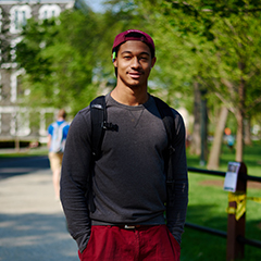 Student standing in Rose Hill Campus